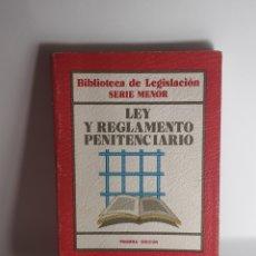 Libros: LEY Y REGLAMENTO PENITENCIARIO - EDITORIAL CIVITAS. Lote 233828255
