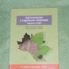 Libros: ADMINISTRACIÓN Y LEGISLACIÓN AMBIENTAL - 9ª EDICIÓN - 2016 - DYKINSON - NUEVO - (3 FOTOS). Lote 233982835