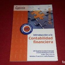 Libros: INTRODUCCION A LA CONTABILIDAD FINANCIERA. 2ª EDICION. 2013. Lote 234305905