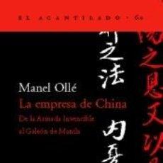 Libros: LA EMPRESA DE CHINA. Lote 235197110