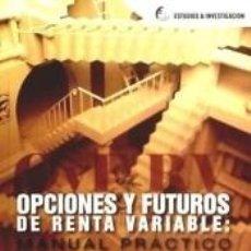 Libros: OPCIONES Y FUTUROS DE RENTA VARIABLE. Lote 237059195