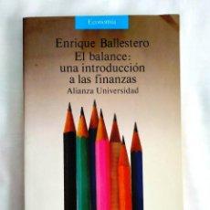 Libros: BALLESTERO: EL BALANCE - NUEVO. Lote 240026745
