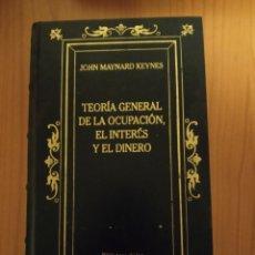 Libros: TEORÍA GENERAL DE LA OCUPACIÓN, EL INTERÉS Y EL DINERO, KEYNES.. Lote 240337395