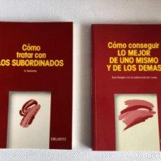 Libros: LOTE DOS LIBROS MANAGEMENT EDITORIAL DEUSTO. Lote 244512905