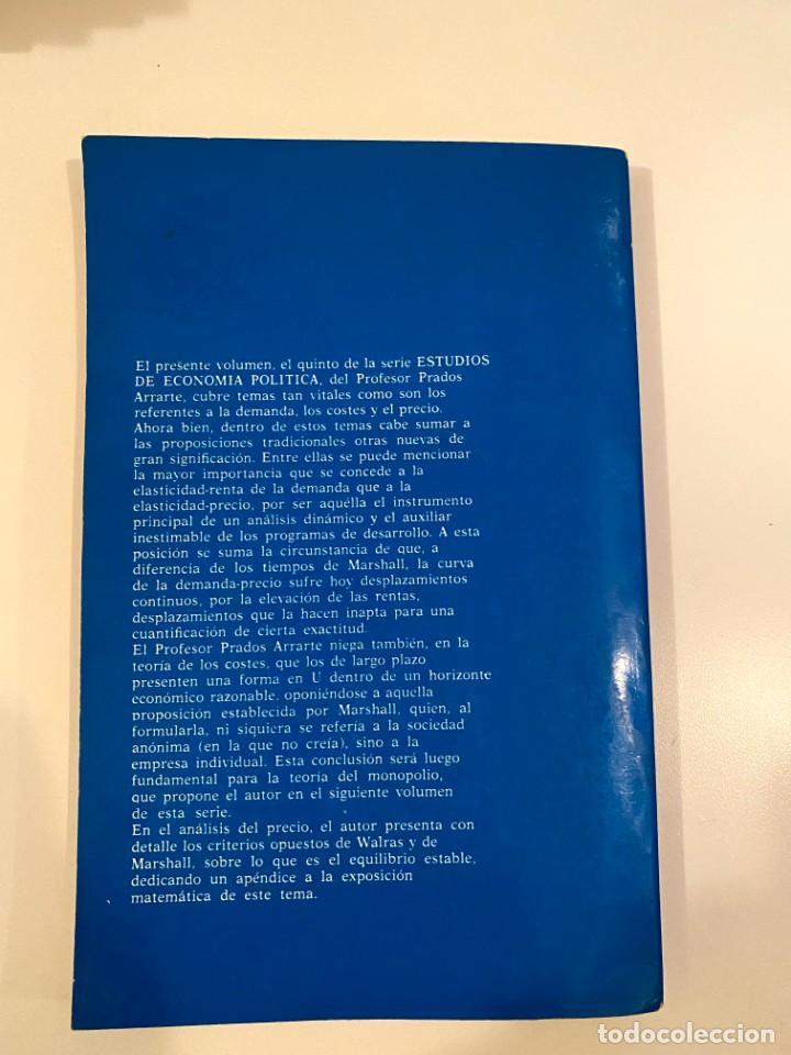 """Libros: """"DEMANDA, COSTES Y PRECIO"""" - JESUS PRADOS ARRARTE - Foto 2 - 245370090"""