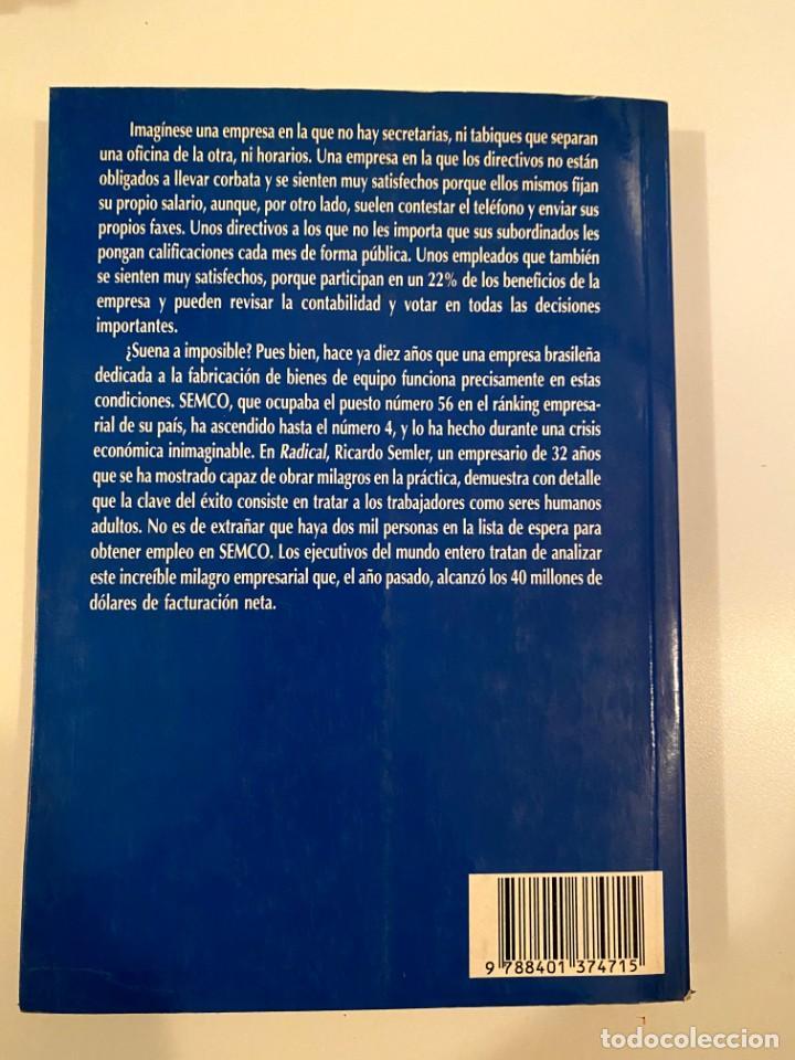 "Libros: ""RADICAL"" - RICARDO SEMLER - Foto 2 - 245370340"