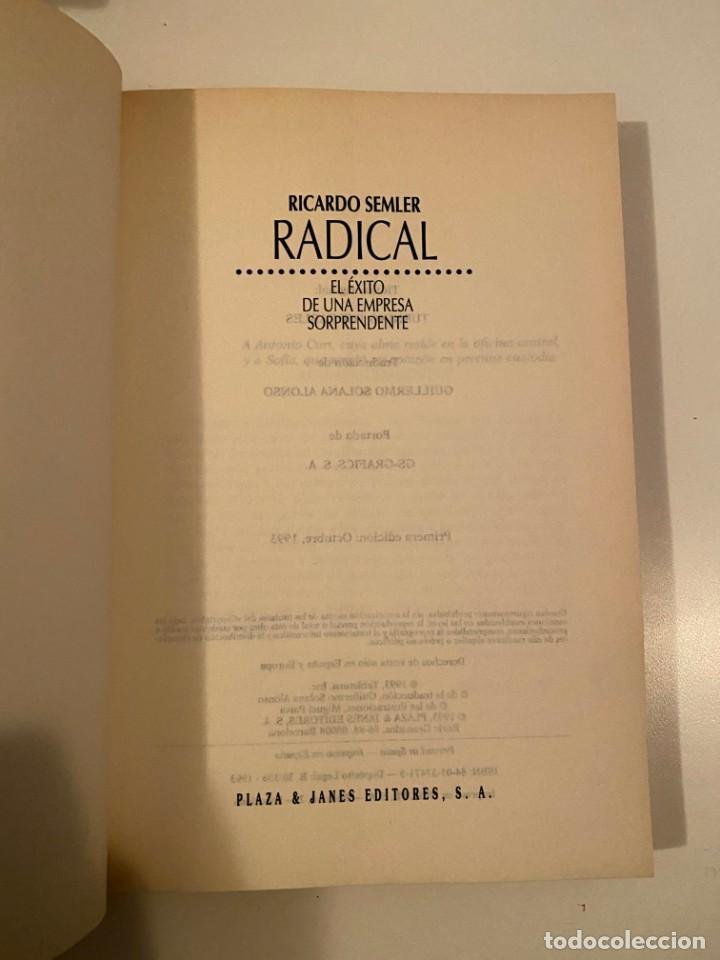 "Libros: ""RADICAL"" - RICARDO SEMLER - Foto 3 - 245370340"