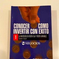 """Libros: """"CONOCER COMO INVERTIR CON EXITO""""- 8 LIBROS. Lote 245385835"""