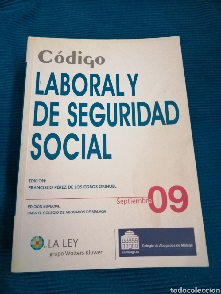 CÓDIGO LABORAL Y DE LA SEGURIDAD SOCIAL 09, GRUPO WOLTERS KLUWERGS. (Libros Nuevos - Ciencias, Manuales y Oficios - Derecho y Economía)
