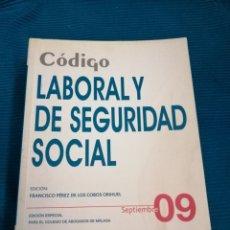 Libros: CÓDIGO LABORAL Y DE LA SEGURIDAD SOCIAL 09, GRUPO WOLTERS KLUWERGS.. Lote 246797315