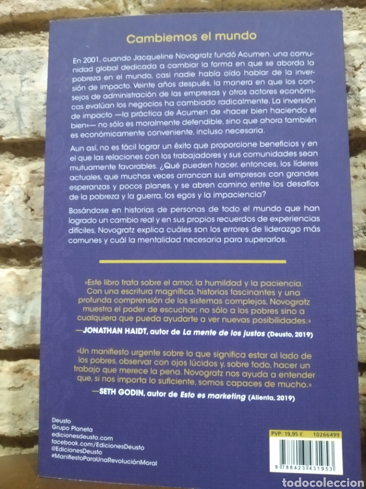 Libros: Manifiesto para una revolución moral Ideas para construir un mundo mejor Jacqueline Novogratz - Foto 2 - 246913975