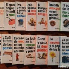 Libros: LOTE 14 LIBROS COLECCION 'LOS RETOS DE LA ECONOMIA' - RBA (PRECINTADOS). Lote 250155565
