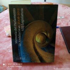 Libros: MEMORIA DEL PARLAMENTO DE ANDALUCÍA 2008/2012. 447 PG.. Lote 250339955