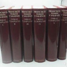 Libri: OBRAS COMPLETAS DE FRANCISCO TOMÁS Y VALIENTE. (6 VOLUMENES). Lote 251253590
