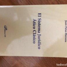 Libros: EL SISTEMA JURÍDICO ÁTICO CLÁSICO. Lote 251493015