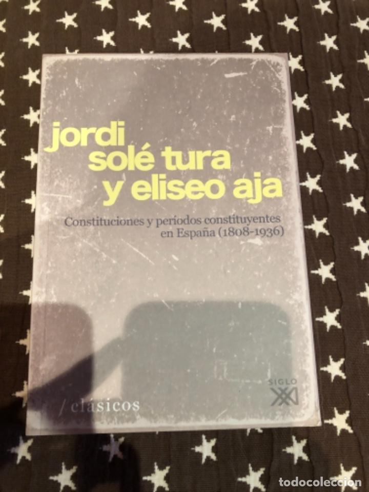 CONSTITUCIONES Y PERIODOS CONSTITUYENTES EN ESPAÑA SOLE TURA (Libros Nuevos - Ciencias, Manuales y Oficios - Derecho y Economía)