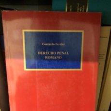 Livros: DERECHO PENAL ROMANO FERRINI. Lote 253845805