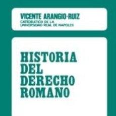 Libros: HISTORIA DEL DERECHO ROMANO. Lote 254526200