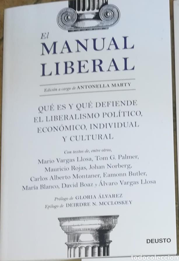 EL MANUAL LIBERAL QUÉ ES Y QUÉ DEFIENDE EL LIBERALISMO POLÍTICO, ECONÓMICO. NOVEDAD. MAYO 2021 (Libros Nuevos - Ciencias, Manuales y Oficios - Derecho y Economía)