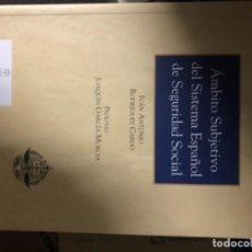 Libros: ÁMBITO SUBJETIVO DEL SISTEMA ESPAÑOL DE SEGURIDAD SOCIAL. Lote 263032785