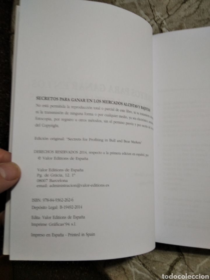 Libros: Secretos para ganar en los mercados alcistas y bajistas. Stan Weinstein. Nuevo - Foto 6 - 265997603