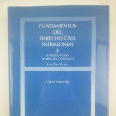 Libri: FUNDAMENTOS DEL DERECHO CIVIL PATRIMONIAL 1 CIVITAS SEXTA EDICION. Lote 267807164