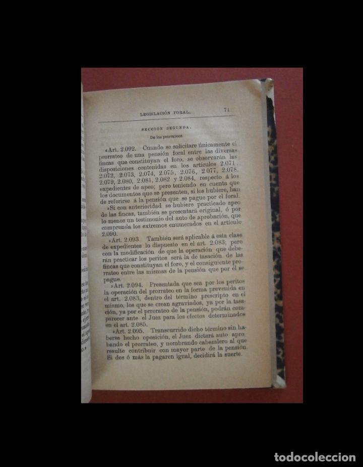 Libros: Legislacion Foral de España. Derecho Civil Vigente en Vizcaya. Manuel de Lecanda - Foto 3 - 268040859