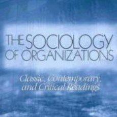 Libros: SOCIOLOGY OF ORGANIZATIONS. Lote 269392808