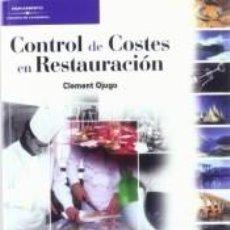 Libros: CONTROLDECOSTESENRESTAURACIÓN. Lote 271573733