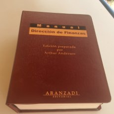 Libros: MANUAL DE DIRECCION DE FINANZAS ARANZADI. Lote 275089913