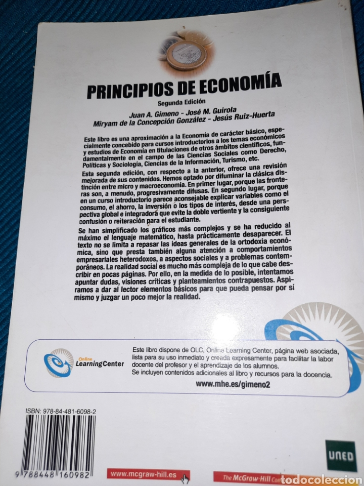 Libros: PRINCIPIO DE ECONOMÍA, GRAW HILL, UNED, 2008 - Foto 4 - 276222138