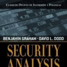 Libros: SECURITY ANALYSIS. Lote 277201953
