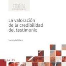 Libros: LA VALORACIÓN DE LA CREDIBILIDAD DEL TESTIMONIO. Lote 278704303