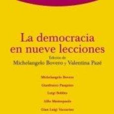 Libros: LA DEMOCRACIA EN NUEVE LECCIONES. Lote 279582328