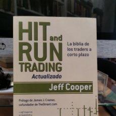 Libri: HIT AND RUN TRADING ACTUALIZADO, LA BIBLIA DE LOS TRADERS A CORTO PLAZO JEFF COOPER. Lote 282501893