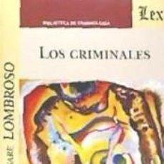 Libros: LOS CRIMINALES. Lote 288924968