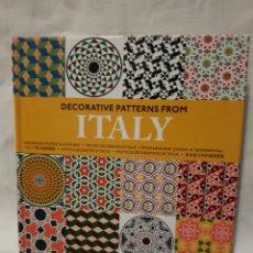 Libri: DECORATIVE PATTERNS FROM ITALI. Lote 95033444