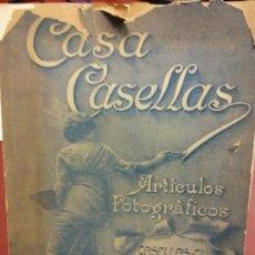 Libros: STQ.CASA CASELLAS ARTICULOS FOTOGRAFICOS.BARCELONA.BRUMART TU LIBRERIA. Lote 144346338