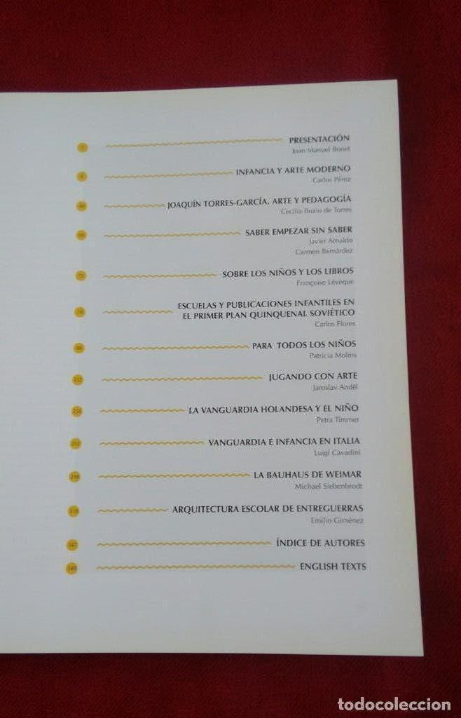 Libros: Libro Infancia y arte moderno. IVAM Centre Julio Garcia 1998. - Foto 3 - 164575438