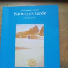 Libros: NUNCA ES TARDE ANTOLOGIA POETICA MARIO QUADRI CASTILLO MADRID 2010 - GASTOS DE ENVIO GRATIS. Lote 175952292