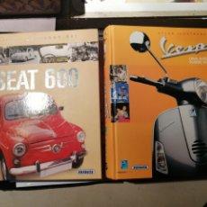 Libros: VESPA Y SEAT 600 HISTORIA Y MITOS LIBROS NUEVOS SIN USO. Lote 183690686