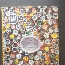 Libros: TYPOGRAPHY NUM 22 ANUAL OF TIPE DIRECTORS CLUB. Lote 195944293