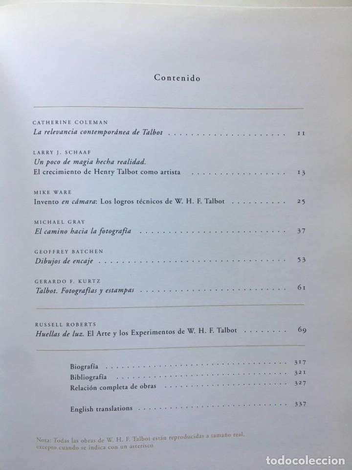 Libros: HUELLAS DE LA LUZ: EL ARTE Y LOS EXPERIMENTOS DE WILLIAM HENRY FOX TALBOT - Foto 2 - 205841572