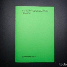 """Libri: """"COLECCIÓN ARCHIVO. COMO SI NO HUBIERA UN MAÑANA (ORIHUELA), SEPTIEMBRE 2019"""" DE RICARDO CASES. Lote 233522345"""
