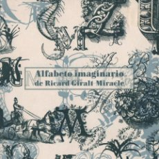 Livres: ALFABETO IMAGINARIO. RICARD GIRALT MIRACLE. CAMPGRÀFIC. 2011.. Lote 223119233