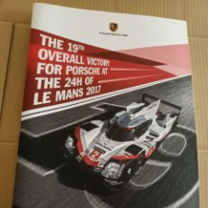 Libros: THE 19TH OVERALL VICTORY FOR PORSCHE AT THE 24H OF LE MANS 2017 PHOTOS FRANK KAYSER 1ST PLACE. Lote 257620430