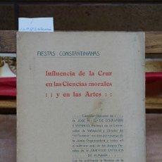 Libros: GZ DE ECHEVARRI Y VIVANCOJOSE Mª.INFLUENCIA DE LA CRUZ EN LAS CIENCIAS MORALES Y EN LAS A.. Lote 269041678