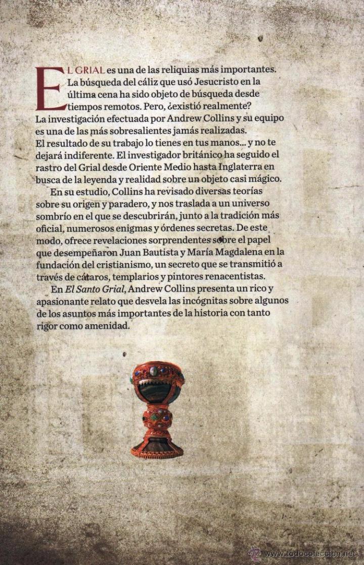 Libros: EL SANTO GRIAL: EN BUSCA DE UNA LEYENDA de ANDREW COLLINS - EDICIONES MINOTAURO, 2014 (NUEVO) - Foto 2 - 77473881