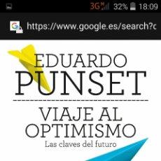 Libros: VIAJE AL OPTIMISMO E. PUNSET C. LECTORES. Lote 98016442
