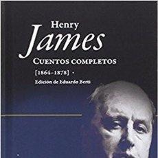 Libros: CUENTOS COMPLETOS DE HENRY JAMES (1864-1878 JAMES, HENRY PAGINAS DE ESPUMA GASTOS DE ENVIO GRATIS. Lote 103619327